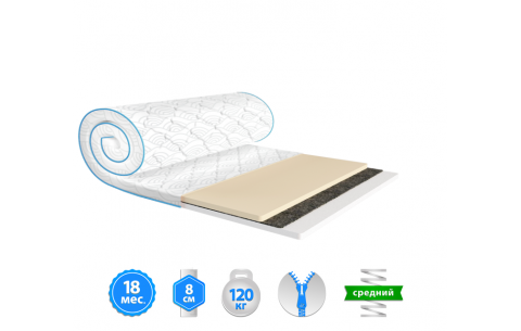 Мини-матрас Sleep&Fly mini MEMO 2в1 FLEX жаккард EMM