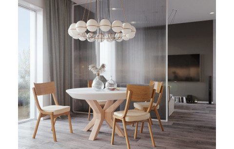 Обеденный комплект: NOVA BETON стол + DIRAN Pavlyk
