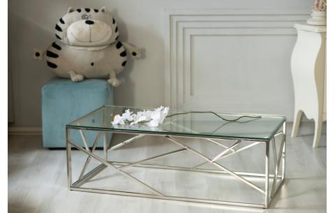 Журнальный стол CF-1 прозрачный + серебро Vetro