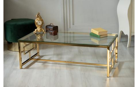 Журнальный стол CL-1 прозрачный+золото Vetro