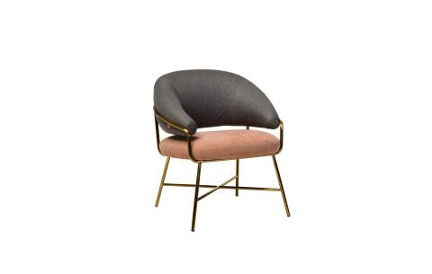 """Кресло """"Адель"""" серый + розовый Vetro"""