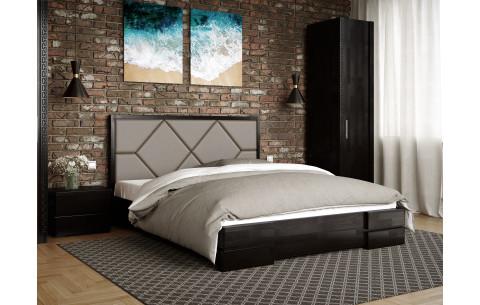 Кровать деревянная Магнолия с мягким изголовьем Arbor Drev