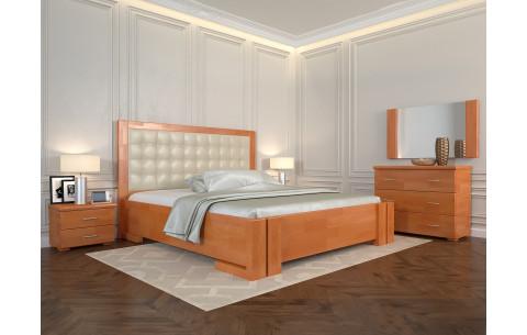 Кровать деревянная Амбер с мягким изголовьем Arbor Drev