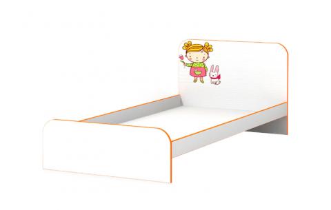 Детская Односпальная Кровать из ДСП, 90х190 см, Мандаринка без бортика без ящиков от LUXE STUDIO