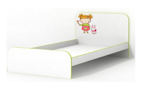 Детская Односпальная Кровать из ДСП, 90х190 см, Яблочко без бортика без ящиков от LUXE STUDIO