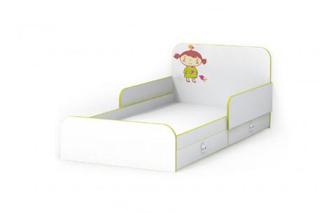 Детская Односпальная Кровать из ДСП, 90х190 см, Яблочко  с бортиками без ящиков от LUXE STUDIO