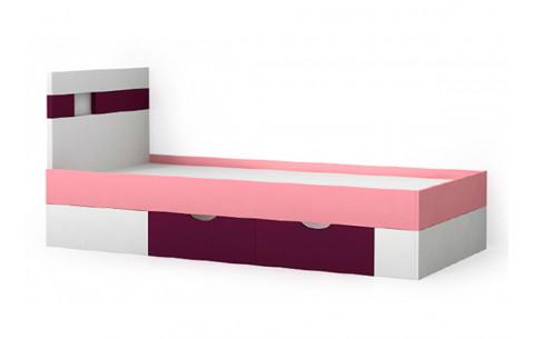 Детская Односпальная Кровать из ДСП, 90х200 см, NEXT / НЕКСТ для девочки от LUXE STUDIO