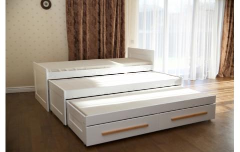 Детская трехъярусная кровать - трансформер Николь с ящиками Venger
