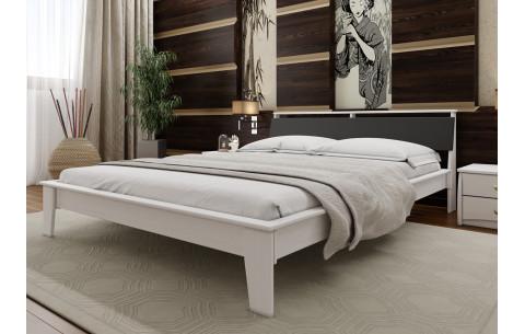 Деревянная кровать Венеция с мягким изголовьем ЧДК