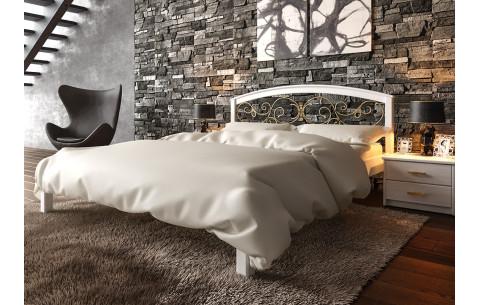Деревянная кровать Британия с ковкою ЧДК