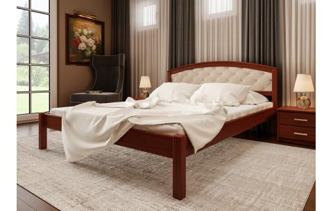 Деревянная кровать Британия с мягким изголовьем ЧДК