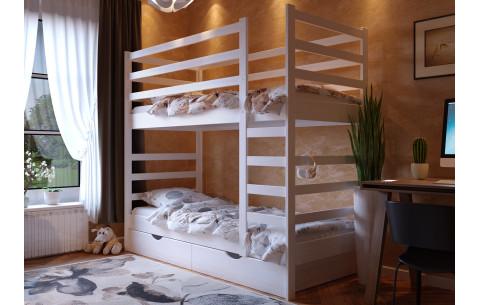 Деревянная двухъярусная кровать трансформер Эля  ЧДК