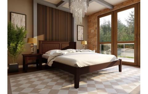 Деревянная кровать Глория с низким  изножьем  ЧДК
