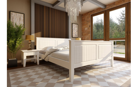 Деревянная кровать Глория с высоким изножьем  ЧДК