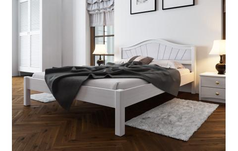 Деревянная кровать Италия с мягким изголовьем ЧДК