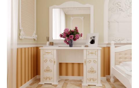 Туалетный столик Магнолия с зеркалом ЧДК