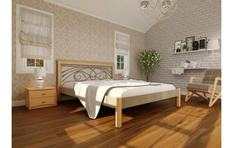 Деревянная кровать Модерн Ковка-Комби ЧДК