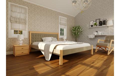 Деревянная кровать Модерн Мягкая-Комби ЧДК