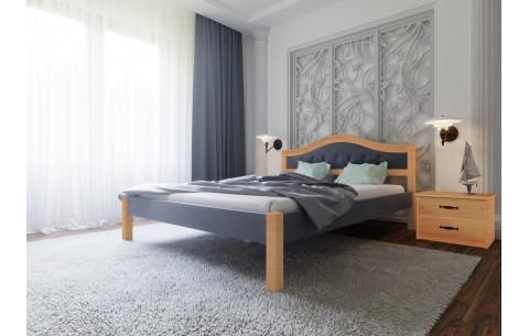 Деревянная кровать Италия Мягкая -Комби ЧДК