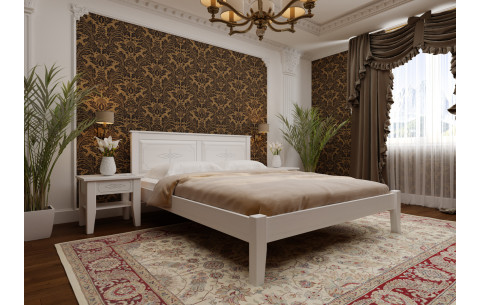 Деревянная кровать Майя с низким изножьем  ЧДК