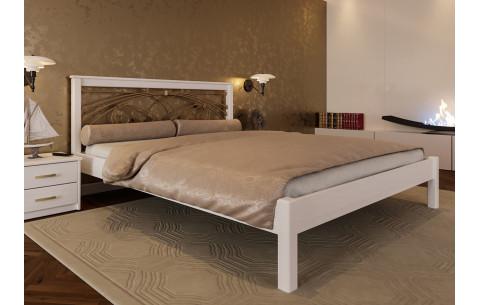 Деревянная кровать Модерн с ковкою ЧДК