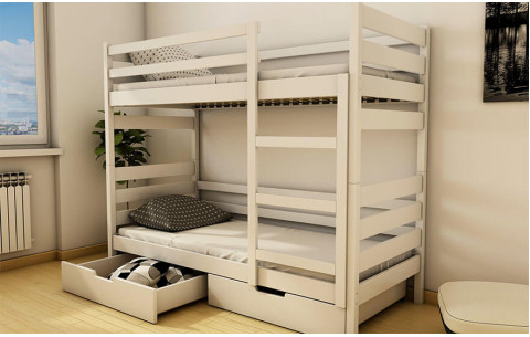 Двухъярусная деревянная кровать- трансформер Амели Luna