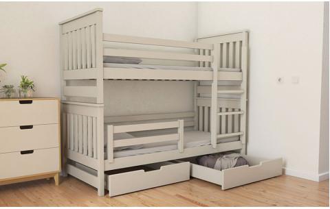 Двухъярусная деревянная кровать- трансформер Адель Duo Luna