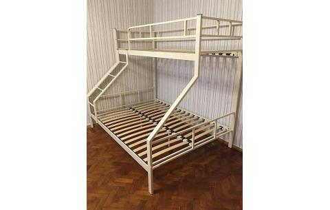 Двухъярусная трехспальная металлическая кровать Domnika LaVito