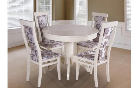 Комплект кухонный: Круглый стол Версаль + стулья Миран Марко