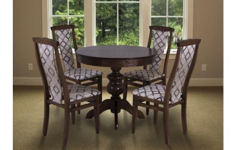 Комплект кухонный: Круглый стол Лео + стулья Марэк 4 Марко