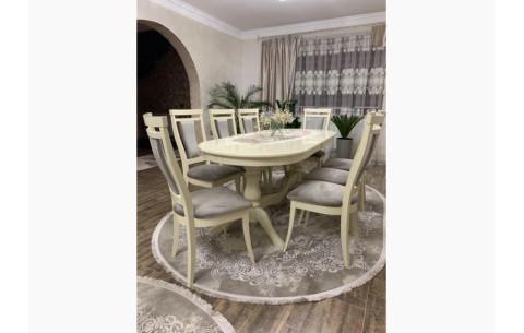 Комплект: Стол овальный Эдельвейс + стулья Маркиз Марко