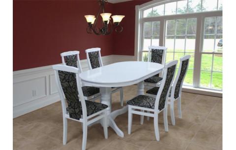 Комплект кухонный белый: Стол Гостиный + стулья Марэк 4 Марко