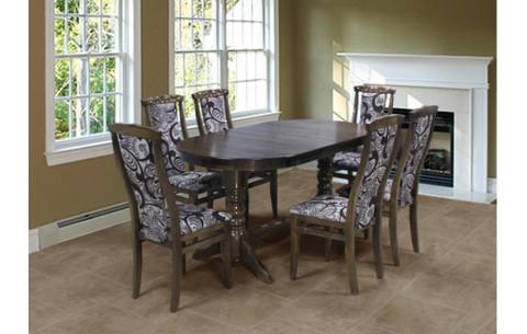 Комплект кухонный орех темный: Стол Гостиный + стулья Марэк 4 Марко