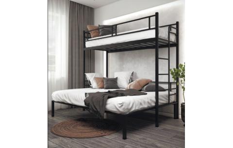 Семейная Двухъярусная металлическая кровать Дабл Металл-Дизайн
