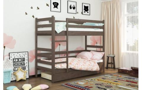 Двухъярусная деревянная кровать трансформер  Дуос