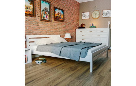Деревянная двуспальная кровать Престиж Эко