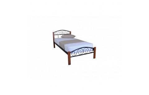 Металлическая односпальная кровать Элис Люкс Вуд Melbi