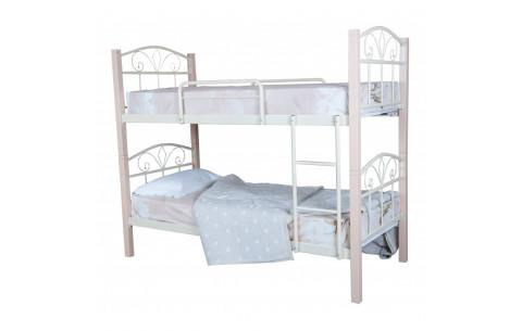 Металлическая двухъярусная кровать Лара Люкс Вуд Melbi