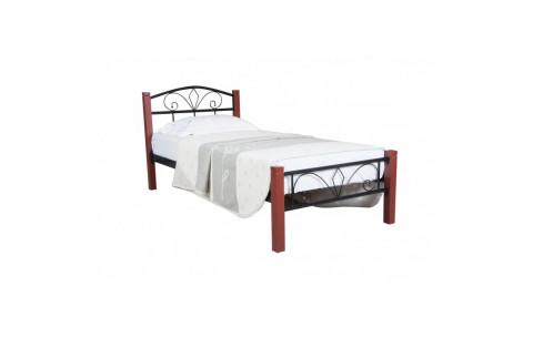 Металлическая односпальная кровать Лара Люкс Вуд Melbi