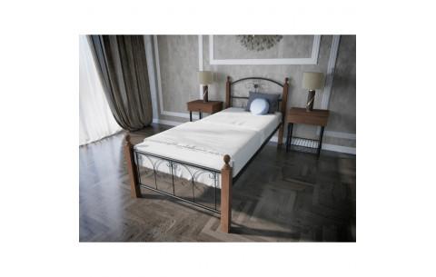 Металлическая односпальная кровать Патриция Вуд Melbi