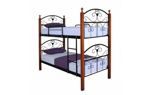 Металлическая двухъярусная кровать Патриция Вуд Melbi
