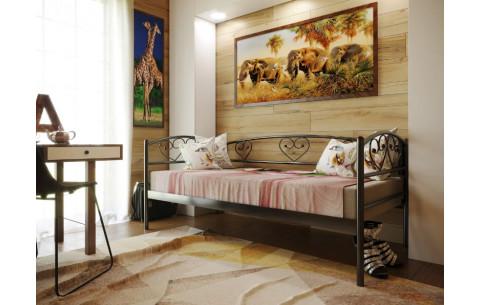 Металлическая односпальная кровать Darina Lux/Дарина Люкс  Метакам