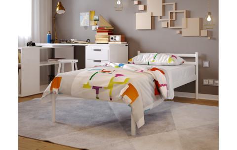 Металлическая односпальная кровать Comfort/Комфорт Метакам