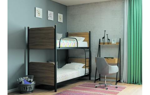 Двухъярусная металлическая кровать трансформер Арлекино Металл-Дизайн