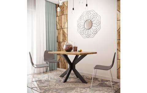 Обеденный стол Кросс Металл Дизайн