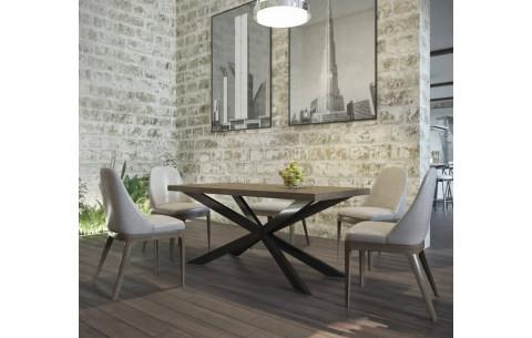 Обеденный стол Икс Металл Дизайн