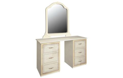 Столик туалетный с зеркалом Миромарк «Дженнифер 6ш» Радика Беж