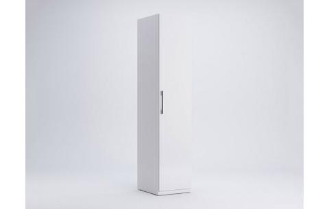 Шкаф Миромарк «Фемели 1д» Глянец белый 210,4х44,8х54,6 см