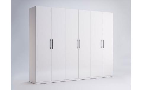 Шкаф Миромарк «Фемели 6д» Глянец белый 210,4х268,2х54,6