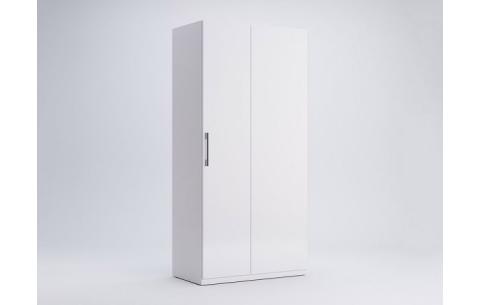 Шкаф Миромарк «Фемели Угол 90 °» Глянец белый 210,4х100х54,6